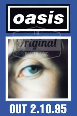Oasis poster - (What's the Story) Morning Glory? Liam (Blue) (1st Generation Rep