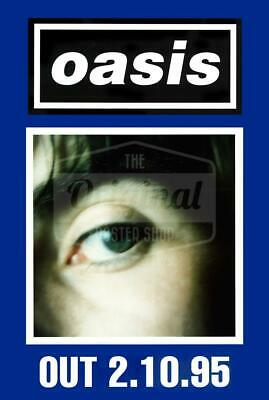 Oasis poster - (What's the Story) Morning Glory? Liam (Blue) Very Rare Original