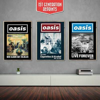 Oasis posters - Definitely Maybe Collectors Set - First Generation Reprints