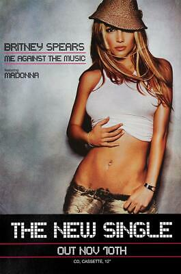 Britney Spears poster - Me Against The Music ft. Madonna. Original
