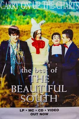 The Beautiful South poster - Carry on up the Charts. Original 60