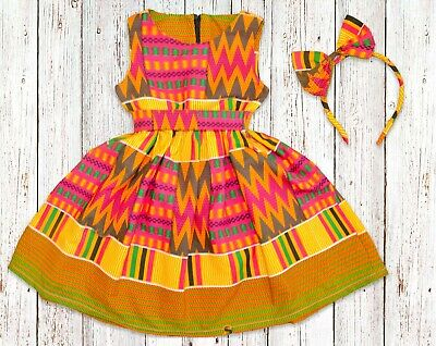 From size 0 months Girls African Print Kente Dress 14 years