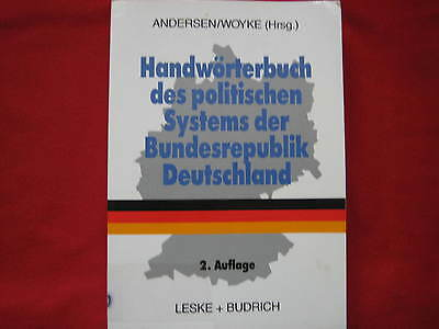 Concise dictionary of the political system of the FRG * Andersen / Woyke * 2 ed. 1995 *