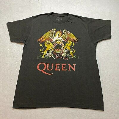 Queen T Shirt Mens Primark 100/% Cotton Rock Band Charcoal Grey UK Sizes M to XXL