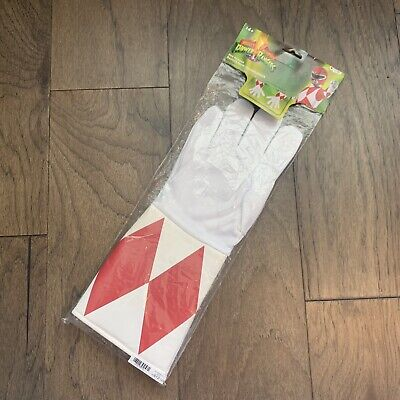 NEW Pink Power Rangers Mystic Force Gloves Boot Covers Costume age 4+