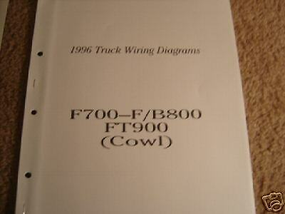 1996 ford truck f 700 f 800 900 b 900 wiring diagrams electrical 1996 ford f700 f b800 ft900 cowl wiring diagrams