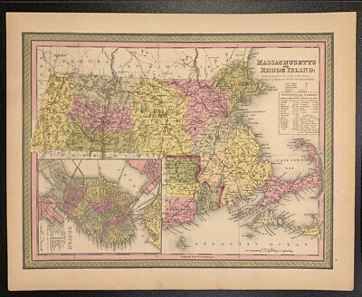 """Map of Massachusetts and Rhode Island"" by Cowperthwait"