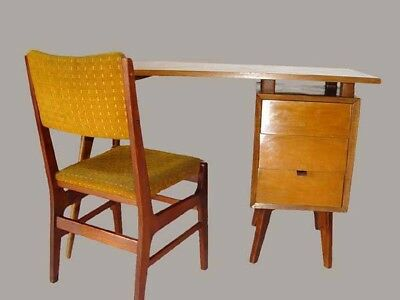 Mid Century Vintage Desk with Chair