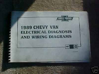 1989 CHEVY G Van Wiring Diagram Manual G10 G20 G30 ...
