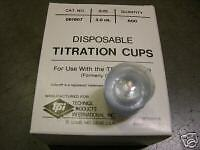600 Disposable Titration Cups.  Size 3.0 ml