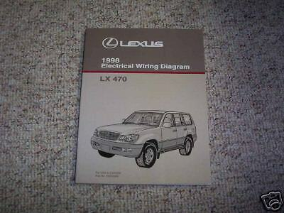 1998 Lexus LX470 Electrical Wiring Diagram Manual Book