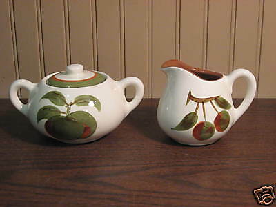 "STANGL ""ORCHARD SONG"" CREAMER & COVERED SUGAR"