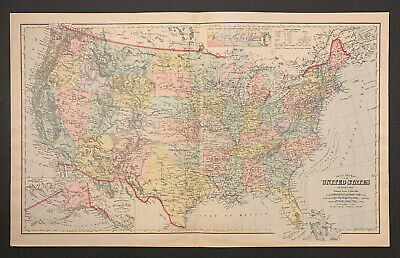 """Frank Gray: """"Gray's New Map of the United States"""" 1897"""