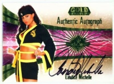 """Candice Michelle """"autograph"""" Wwe Benchwarmer Gold 2007"""