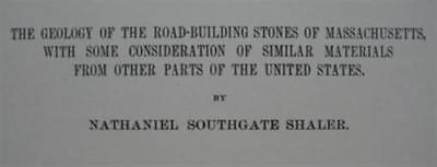 1896 USGS Geology Report STONES USED FOR BUILDING ROADS