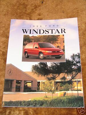 96 Ford Windstar Dealership Sales Manual Brochure USED 1996