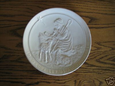 1981 Frankoma Xmas Plate-Oh Come Let Us Adore Him-Mint