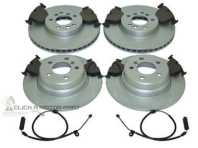 Bmw X5 E53 2000-2006 Front & Rear Brake Discs And Pads Set & Wear Wire Sensors