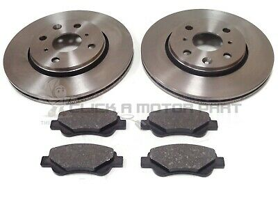 PEUGEOT 107 1.0 & 1.4 HDi 2005-2011 FRONT 2 BRAKE DISCS AND PADS SET NEW