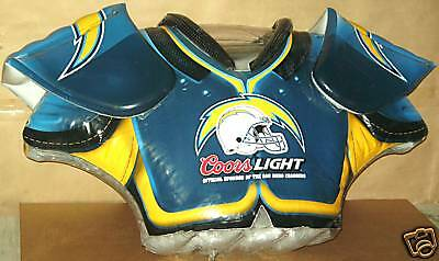 Coors Light Nfl Chargers Shoulder Pads Inflatable New!!