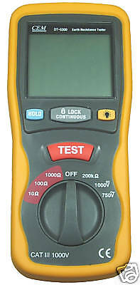 New Digital Earth Resistance Tester Dt5300 0~1000Ω
