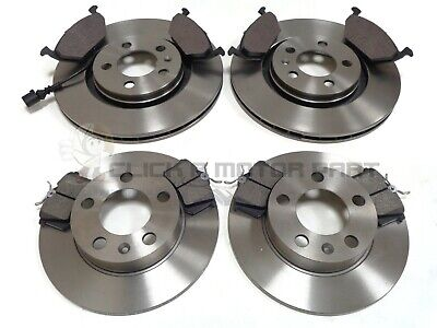 AUDI A2  00--TWO REAR SOLID  232 MM BRAKE DISCS AND A SET OF FOUR BRAKE PADS
