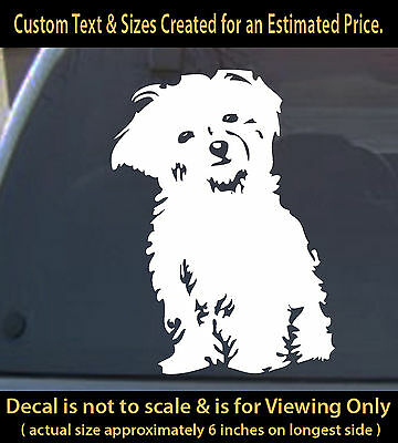 Bichon Frise dog decal 6 inch car truck home outdoor sticker pet lover canine