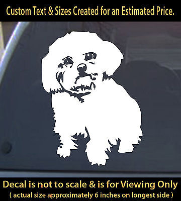 Maltese dog pet vinyl decal 6 inch sticker animal lover fun 4 Colors to pick