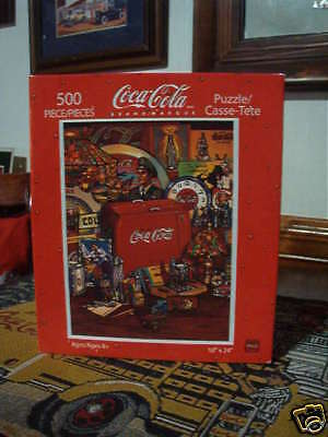 500 Piece Coca Cola  Puzzle - Vintage Coca Cola Cooler  New - Retired Item