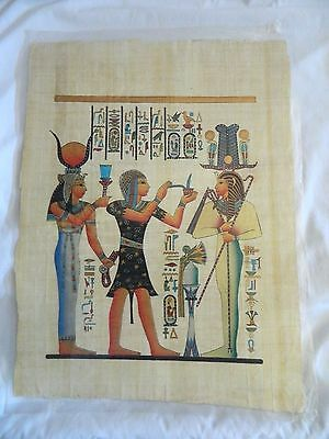 Egyptian Papyrus Paper Painting Setti & Hathor 13X17""