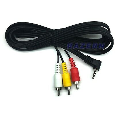NEW 6 ft AV mini plug to 3-RCA audio video cable for 8mm Mini DV camcorders