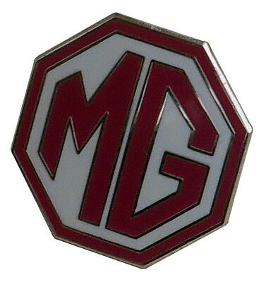 MG OCTAGON LAPEL PIN - RED/WHITE