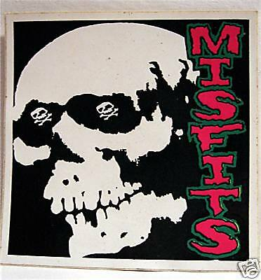 Misfits W/ Skull Rock Band Concert Sticker Old Stock