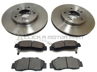 for HONDA PRELUDE 2.2 VTI 16V COUPE 1997-2001 FRONT 2 BRAKE DISCS AND PADS SET