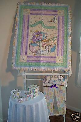 """""""welcome To The World"""" Baby Quilt/diaper Stacker/jars!!"""