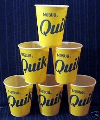 Lot Of 6 - Nestle Quik Sample Cup / Old Store Stock