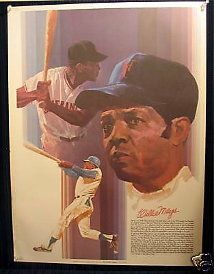 1970's Coca Cola/ Willie Mays/ Baseball Great/Old Stock