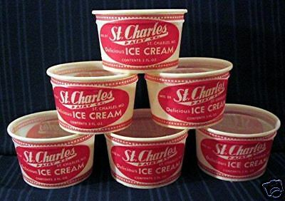 Lot Of 6- St Charles 3 oz Ice Cream Cup Old Store Stock