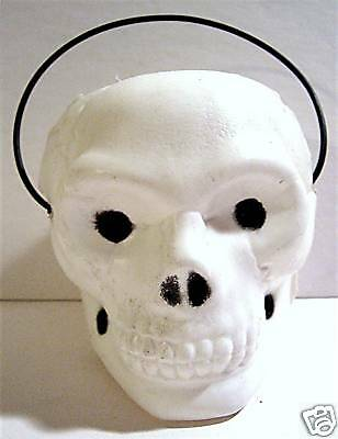 1970's Halloween Skull Candy Container/ Old Store Stock
