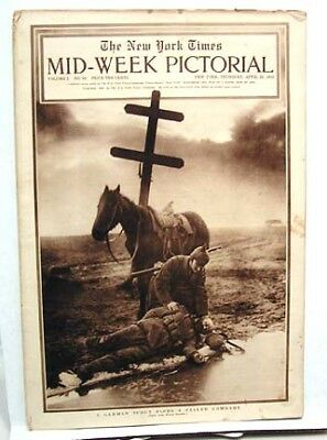 1915 NY TIMES Mid-Week Pictorial FALLEN COMRADE COVER