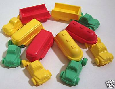 6 Vintage Capsule Charms Vending Toy Trucks / Old Stock