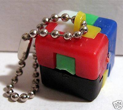 Vintage 1960 Gumball Machine Toy Dice Keychain Puzzle