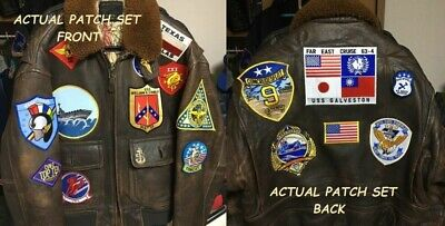 17Patch Set For G-1 Flight Jacket As On Top Gun Movie