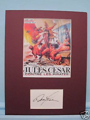 Julius Caesar Against the Pirates signed by Abbe Lane