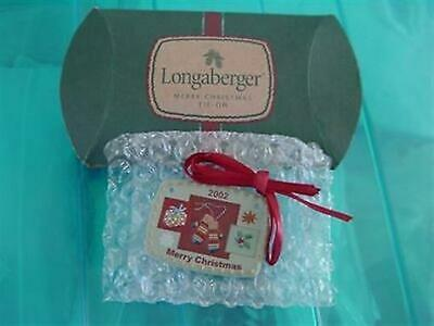 Longaberger 2002 Merry Christmas Tie-On or Ornament #20078 - NEW