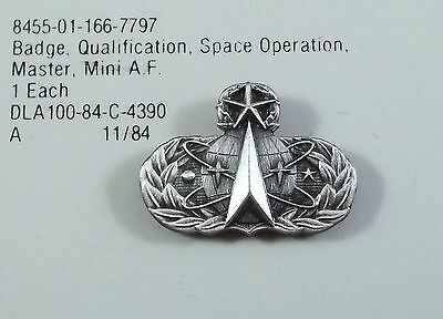 AIR FORCE MASTER SPACE OPERATIONS BADGE FS