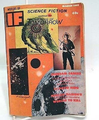 Mar 1968 WORLDS OF IF SCIENCE FICTION Pulp Magazine