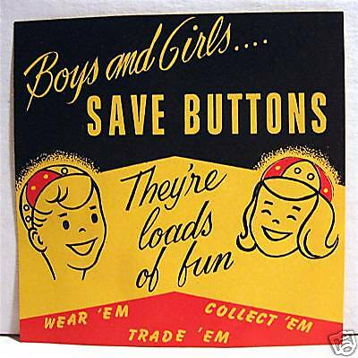 Save Buttons Gumball Vending Machine Sign Old Stock