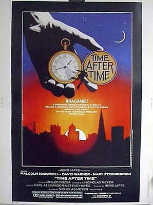 RARE 30x40 Movie Poster 1979 TIME AFTER TIME-HG Wells