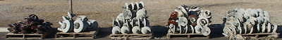 Large Lot Ceramic Electric Power Line Insulators 5Skids